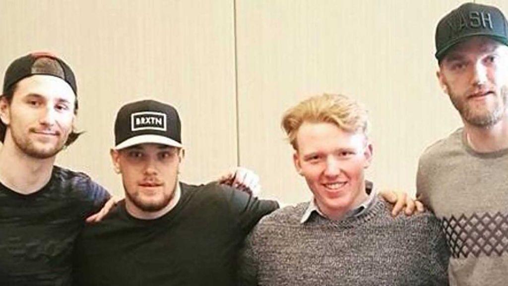 Filip Forsberg, Viktor Arvidsson, Max Strömberg Melin och Mattias Ekholm.