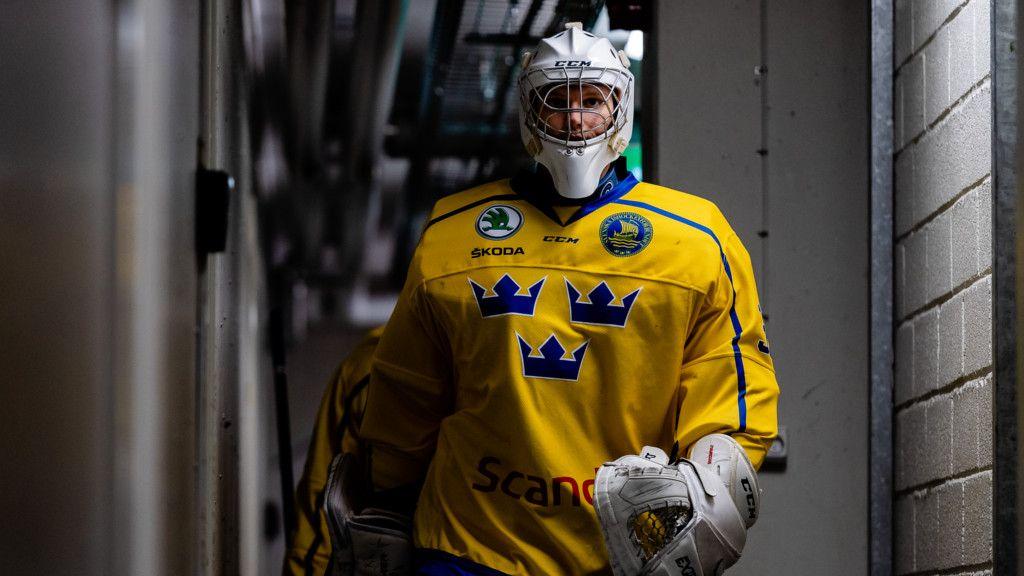 Hugo Ollas i landslagströjan.