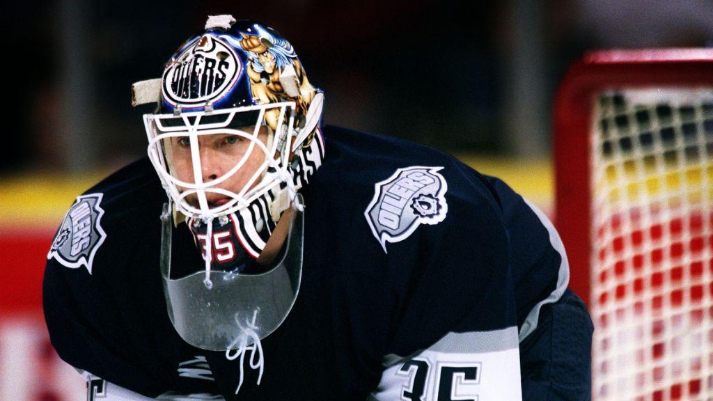 Tommy Salo i Edmonton Oilers tröja 2001.