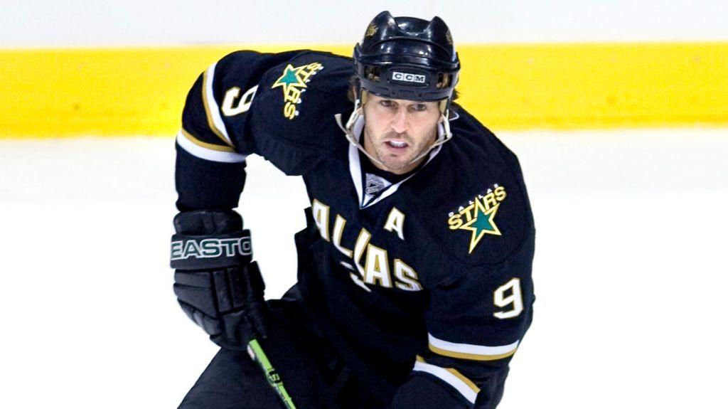 Mike Modano var i slutet av sin långa NHL-karriär när han spelade tillsammans med Grossmann.