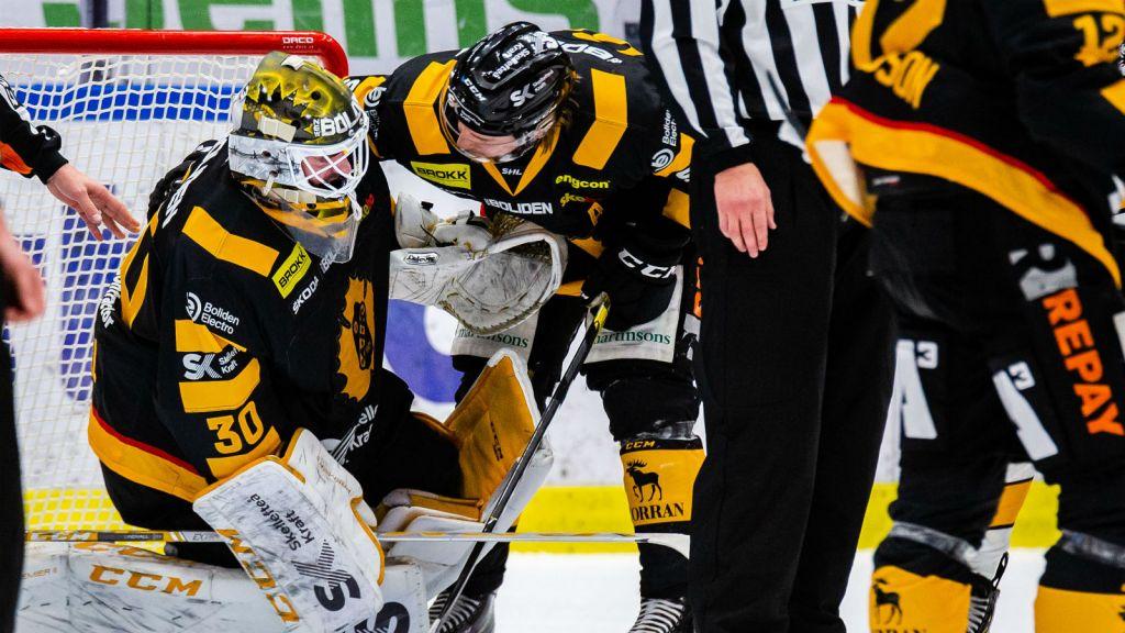 Gustaf Lindvall lämnade matchen mot Luleå med en underkroppsskada.