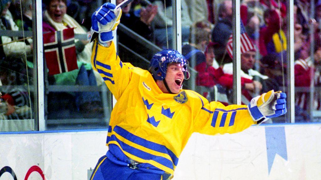 Juhlin var Sveriges bästa målskytt vid OS-triumfen 1994.