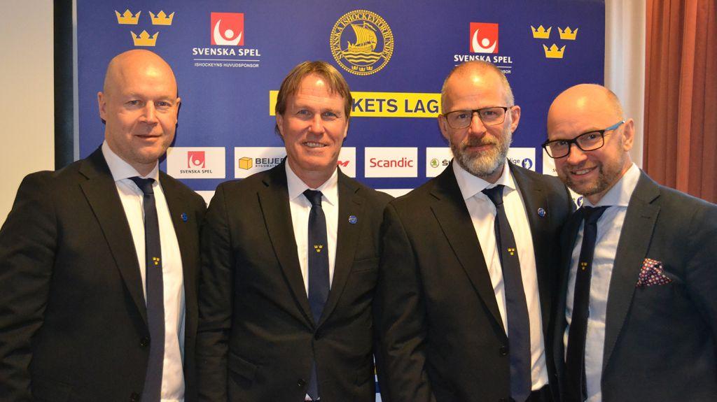 Kvartetten Marcus Ragnarsson, Johan Garpenlöv, Markus Åkerblom och Stefan Ladhe.
