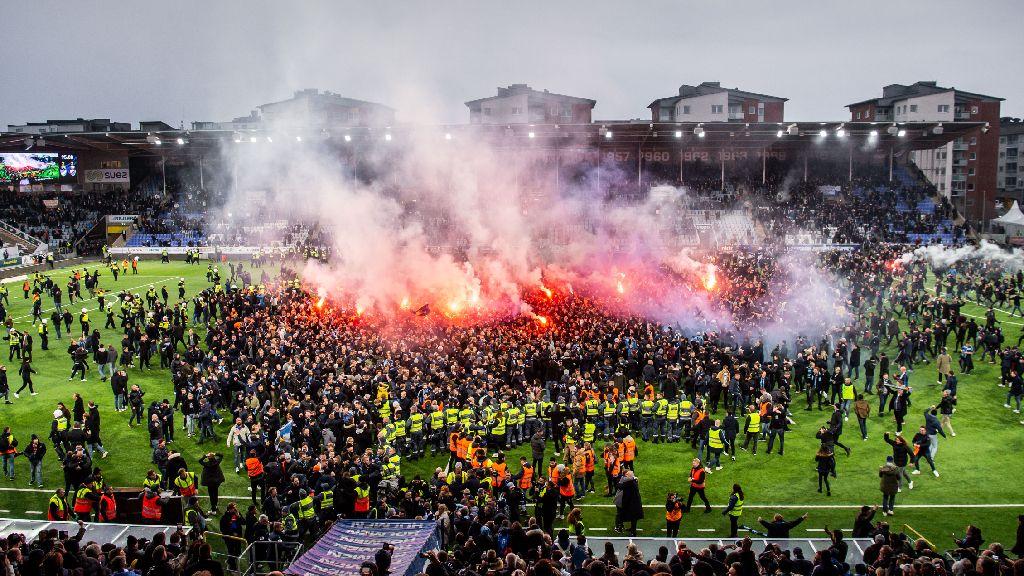 Djurgårdsfansen stormade - Norrköping polisanmäls