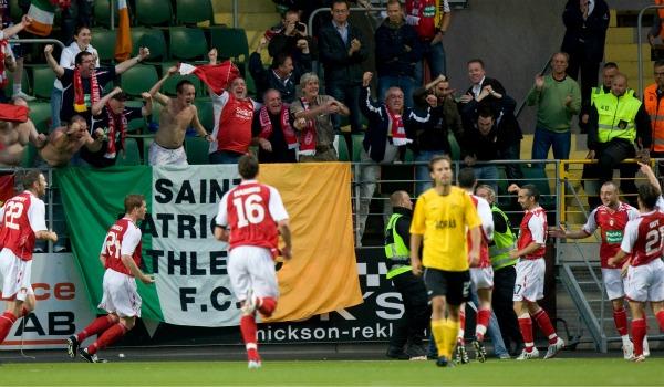 2008, Europa Leagues andra kvalomgång. Trots en ledning med 2-0 hemma mot irländska St Patrick rasade Elfsborg ihop i andra halvlek och fick bara med sig 2-2 inför bortamötet. Där blev det förlust med 1-2 och tidigt uttåg för Elfsborg.
